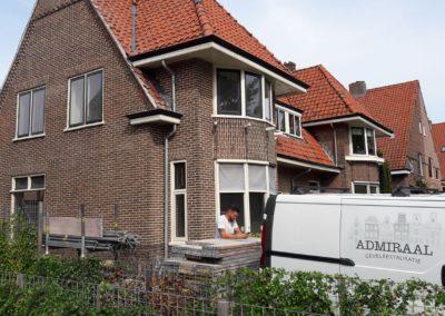 Gevelrestauratie monumentale stadswoning aan het Van Rhenenpark in Nijkerk