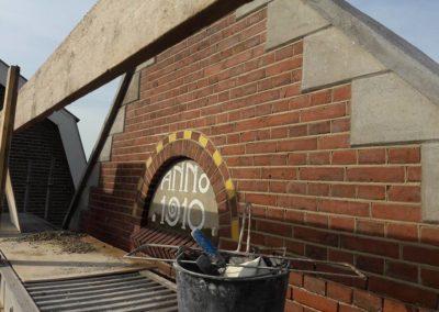Gevel herstellen Kerk te Langbroek